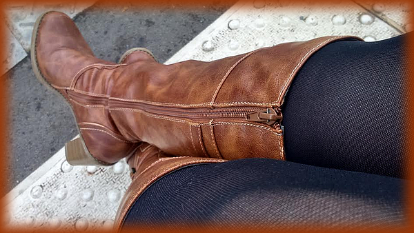 mes bottes en cuir
