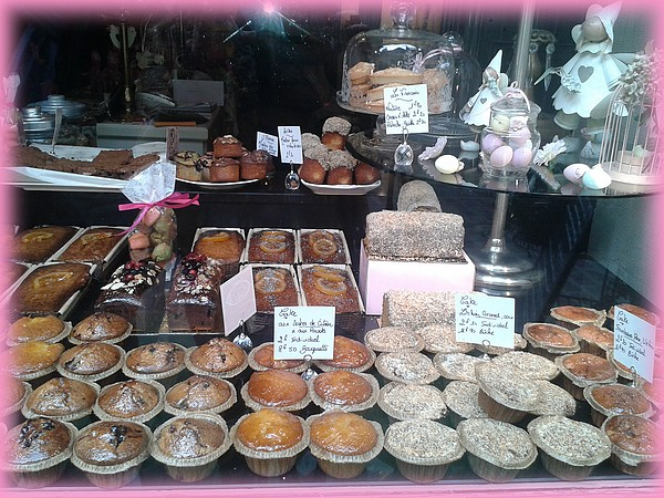 vitrine de dames cakes