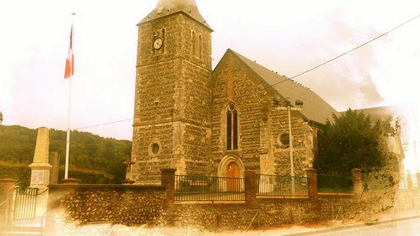 pignon de l'église