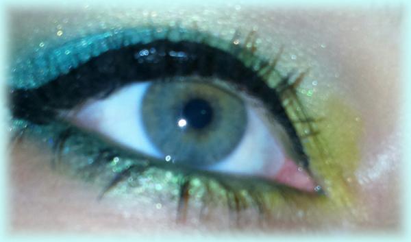 make-up vert/jaune