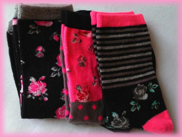 lot de chaussettes fleuries zeeman