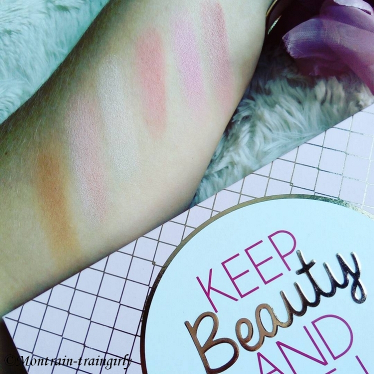 palette KEEP BEAUTY AND MAKE UP swatchs