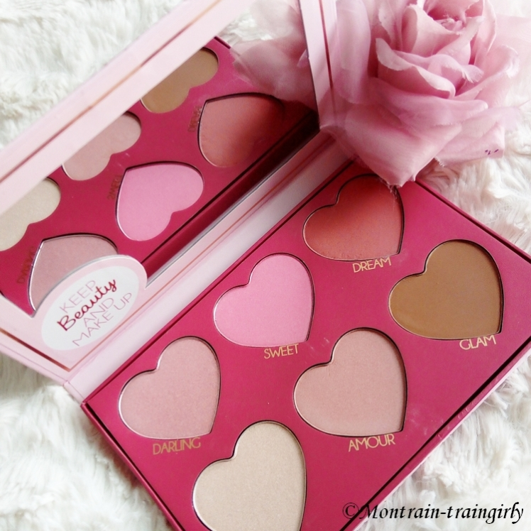 fards palette keep and beauty make-up