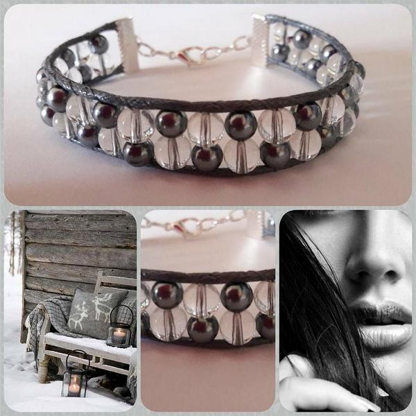 bracelet gris roc girly top