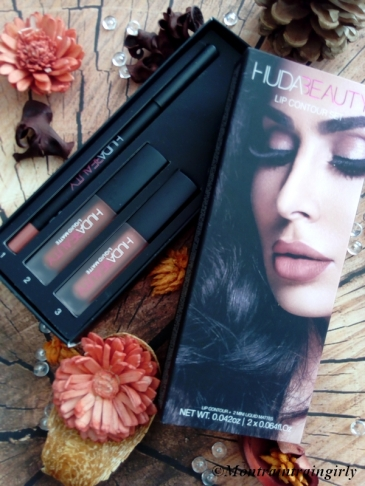 huda beauty lip contour kit coffret