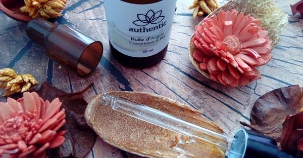 huiles authentic huile d'argan pipette