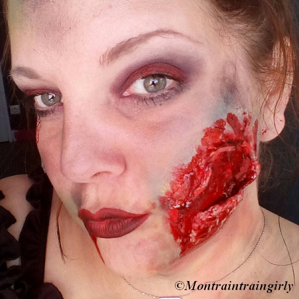 makeup halloween the walking dead morsure