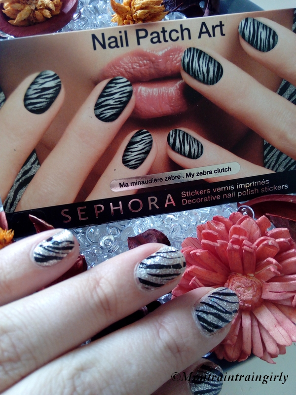 sephora nail patch art zèbre