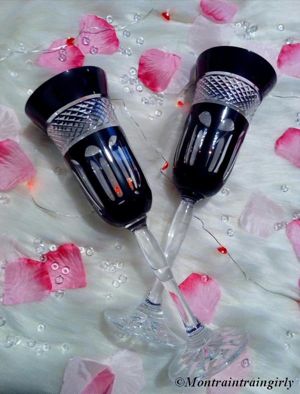 vessieres duo de coupes à champagne en cristal