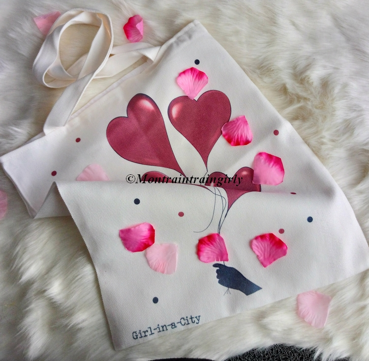 girl in a city tote bag
