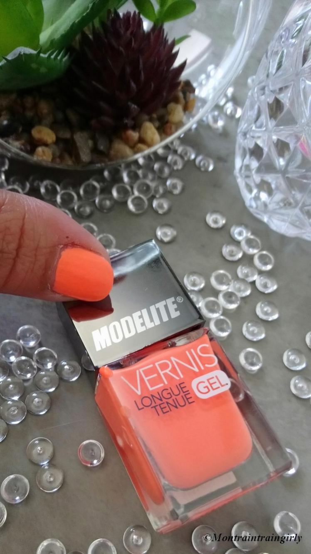 MODELITE vernis 6 orange corail